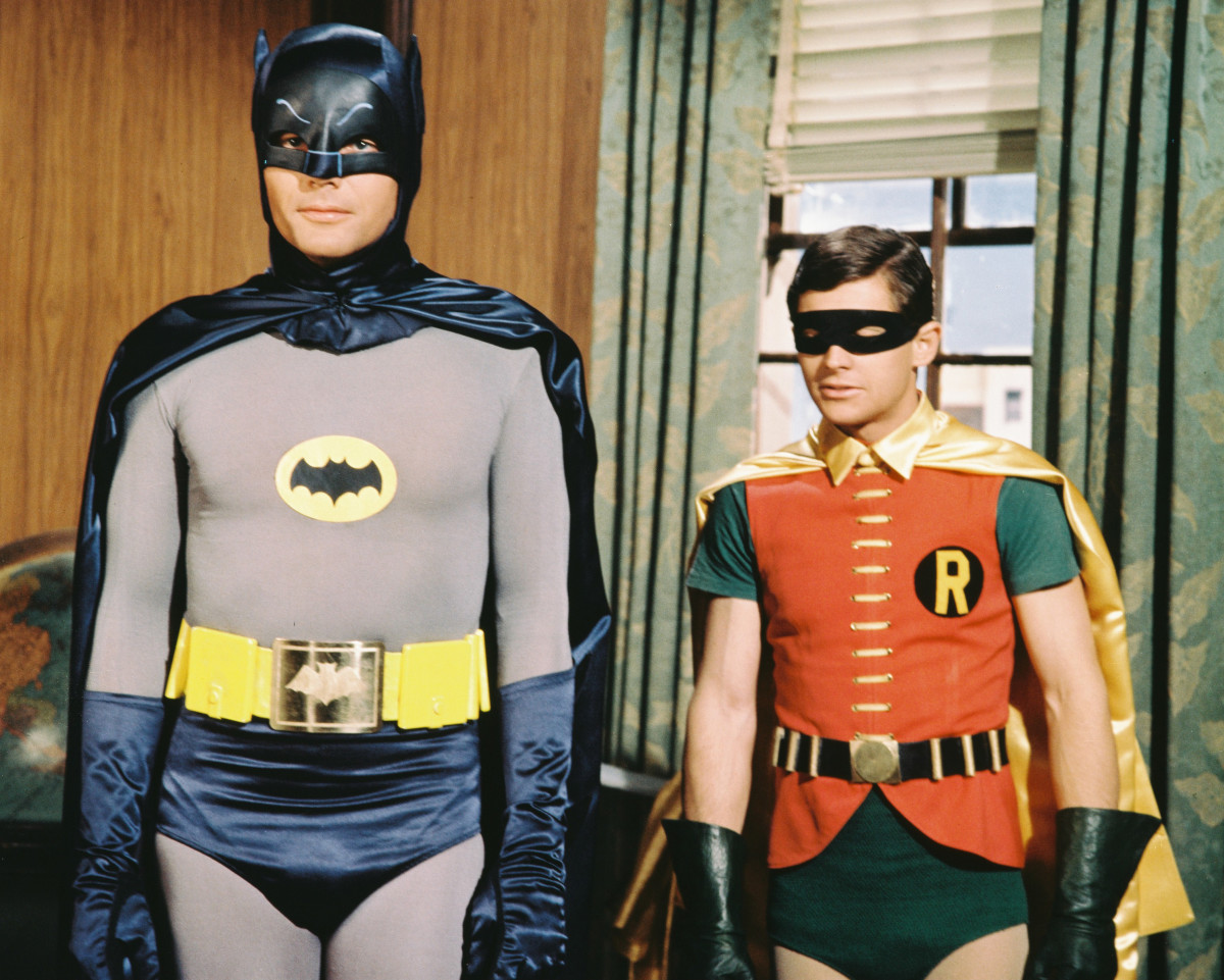 Onscreen Superheroes: Before becoming a feature film success, Batman found popularity on the small screen with the 1960s television series. The show focused on the relationship of the crime-fighting 'dynamic duo' Batman and Robin, played by actors Adam West and Burt Ward.