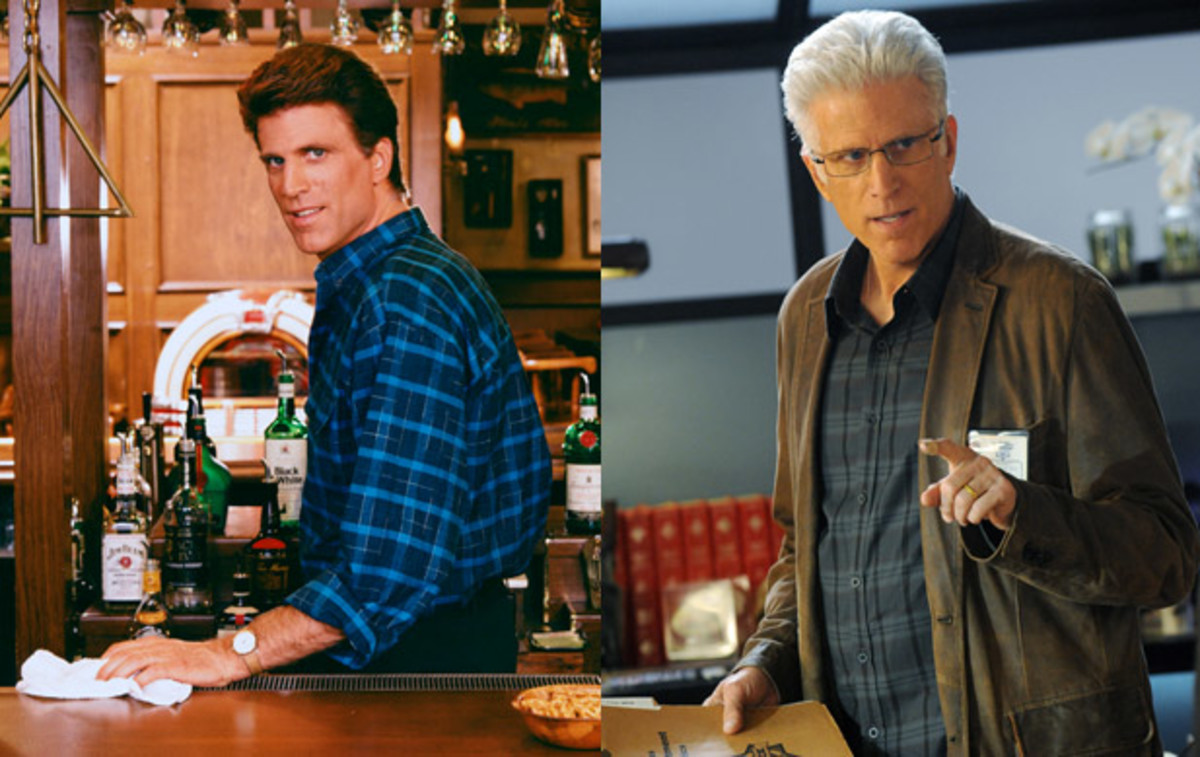Ted Danson played the lead role, Sam Malone, a former baseball player turned bartender who had a way with the ladies. It was a breakout role for Danson who went on to star in several other TV shows including the legal drama Damages and CSI: Crime Scene Investigation.