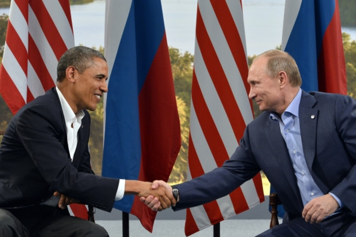 Obama and Putin at the G8 summit in June 2013. (Getty)