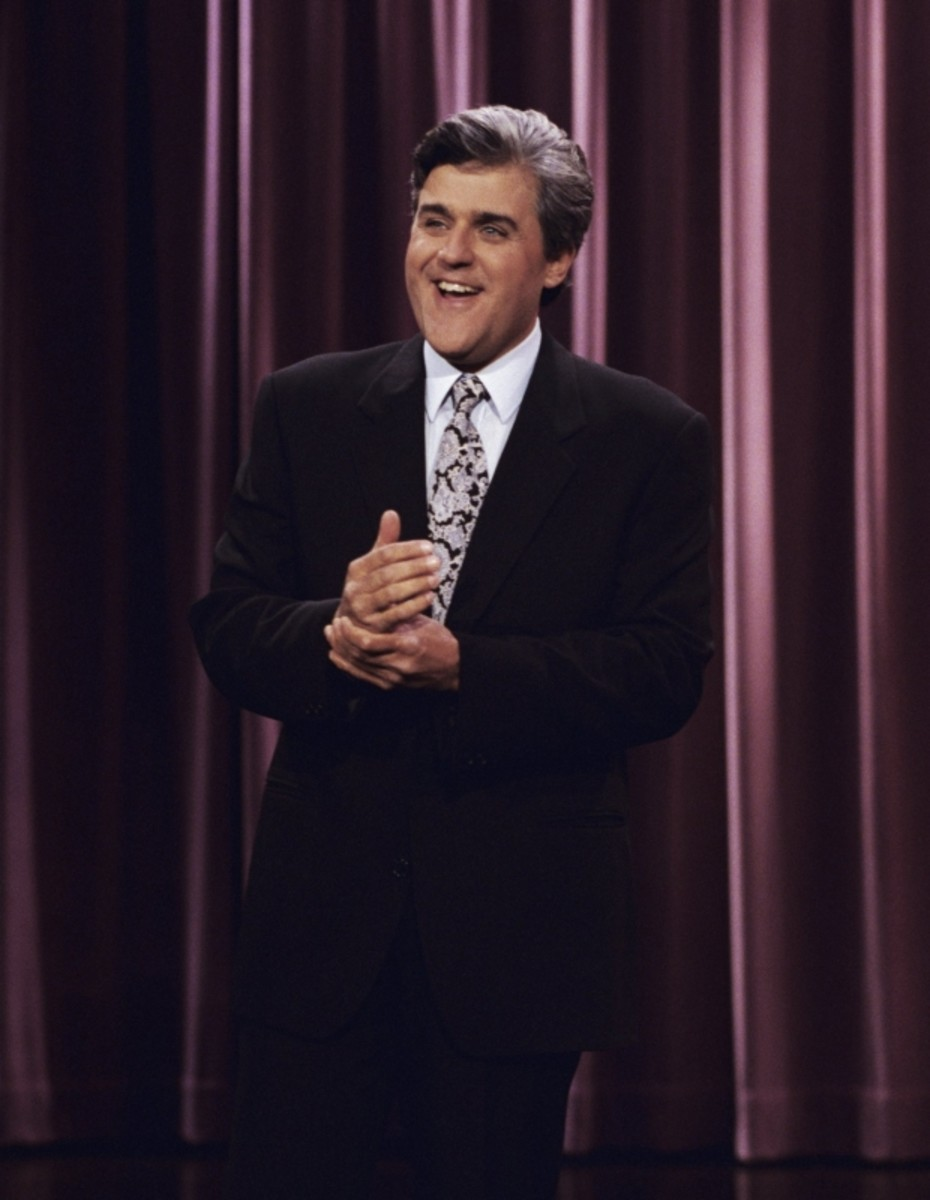 Jay Leno's first day on the job as host of 'The Tonight Show,' May 25, 1992. (Getty)