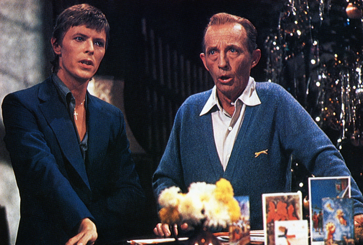 David Bowie: It was definitely a holiday to remember when crooner Bing Crosby and rock star David Bowie performed Little Drummer Boy for Crosby's Christmas special in 1977. (Photo by GAB Archive/Redferns)