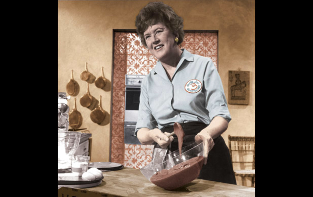 "Julia Child: ""Cooking is like love,"" Child said. ""It should be entered into with abandon or not at all."" Photo courtesy of Paul Child."
