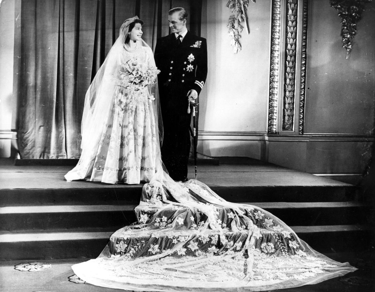 Queen Elizabeth and Prince Philip's wedding