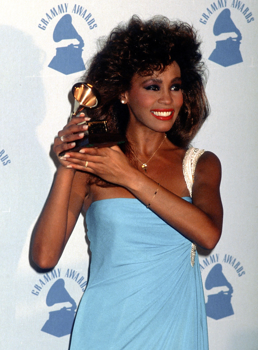 Whitney Houston Photo Gallery: Houston wins Best Pop Vocal Performance at the 28th Annual Grammy Awards on February 25, 1986 at the Shrine Auditorium in Los Angeles.