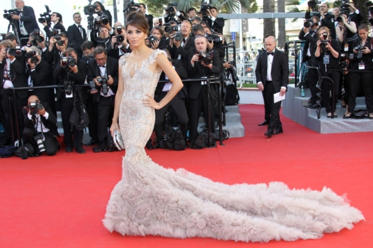 Eva Longoria on the red carpet at Cannes Film Festival, 2012. (Getty)