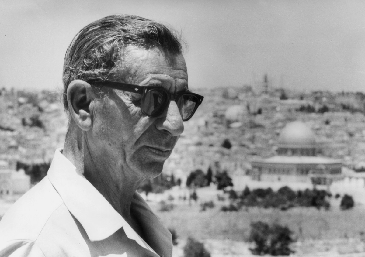 "Infamous Mobsters: Russian-born Meyer Lansky, known as the ""Mob's Accountant,"" is shown here at Mount Olive, Jerusalem in 1971. Lansky fled to Israel in 1970  to avoid tax evasion charges, but was deported two years later by the Israeli government."