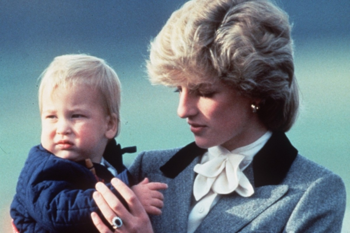 Princess Diana with baby Prince William, October 24, 1983.