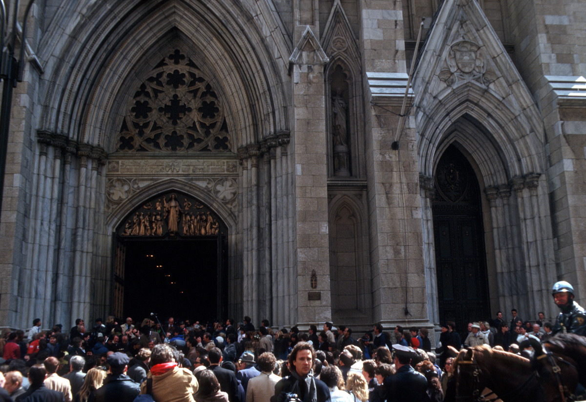Andy Warhol: Andy Warhol's memorial service was held at St Patrick's Cathedral on April 1, 1987.