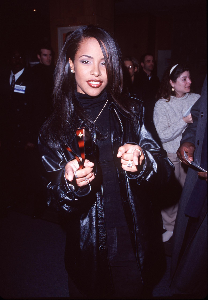 Aaliyah: Aaliyah shows off a more mature style at the premiere of the 1998 film, Mercury Rising.