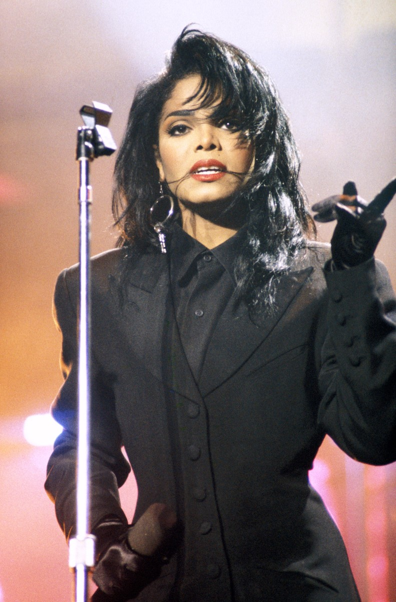 Janet Jackson onstage in 1990. (Photo by Mick Hutson/Redferns)