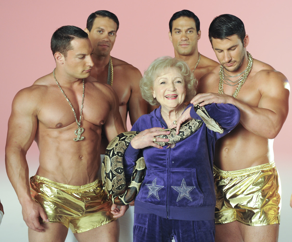 Betty White: White has become the face of many campaigns that promote health and vitality for the elderly, including several AARP spots and the music video 'I'm Still Hot,' which she shot for The Lifeline Program.