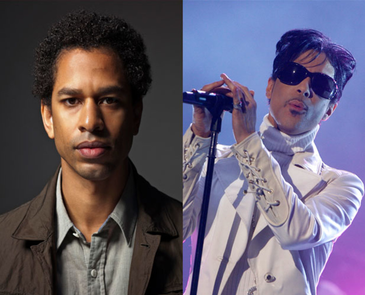 Touré (left) and Prince performing in 2007 in California. (right) (Photo by Kevin Winter/Getty Images for NCLR)