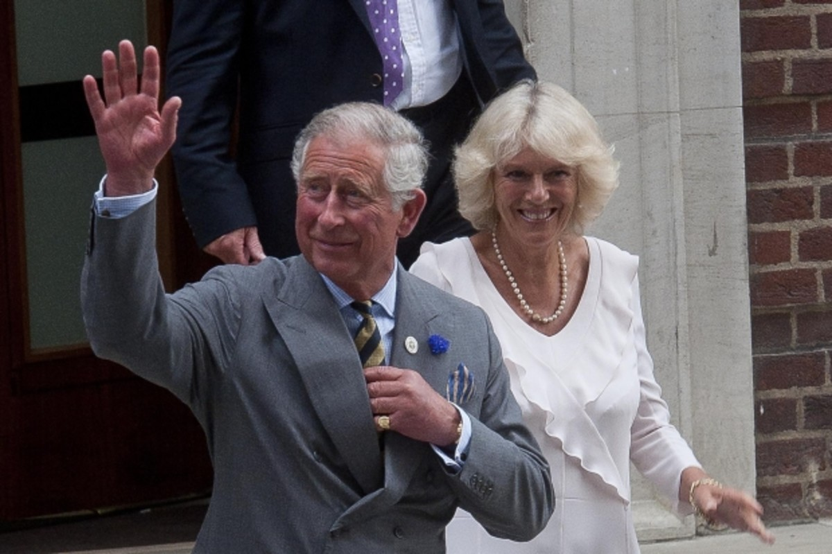 Proud grandparents Prince Charles and Camilla Bowles leaving St. Mary's Hospital on July 23rd.