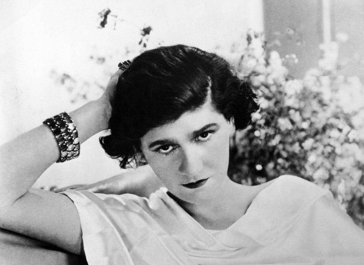 An early undated photo of fashion designer Coco Chanel.
