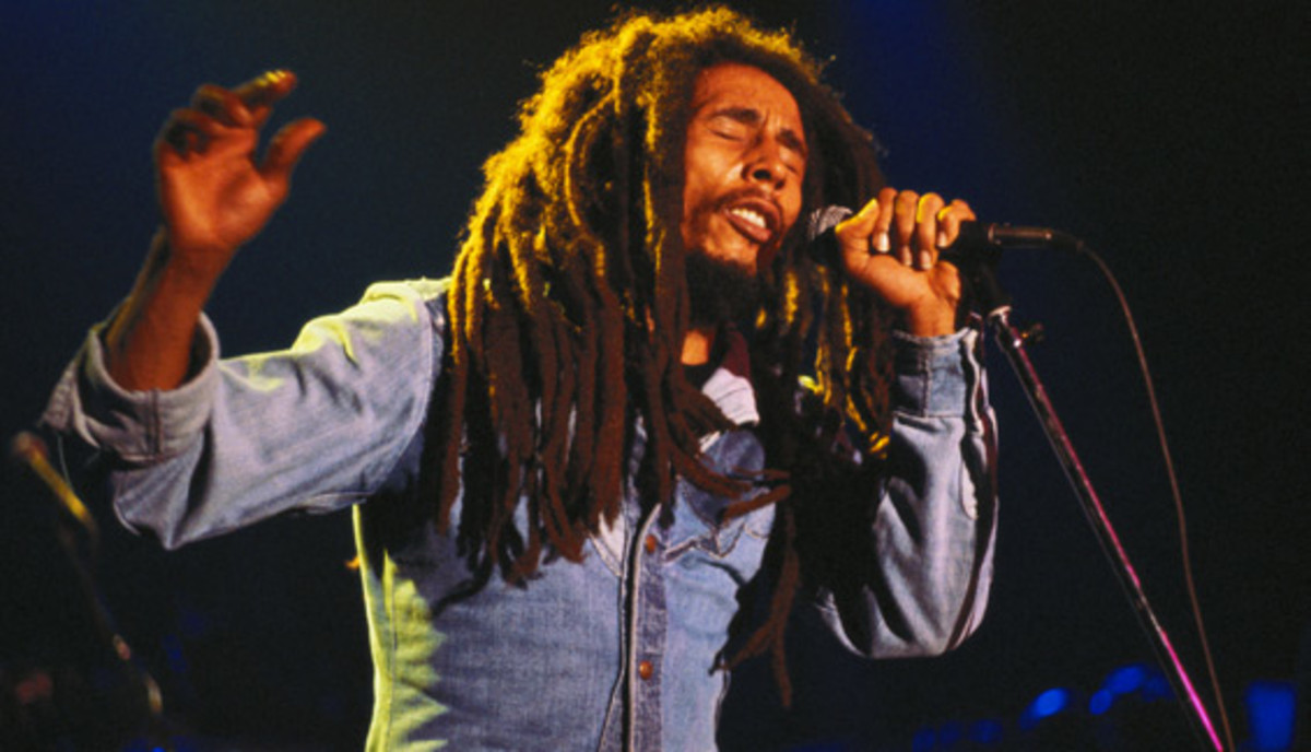 Bob Marley: Bob Marley and The Wailers performed at the Roxy in Los Angeles during the 'Survival' tour in 1979 to benefit the Sugar Ray Robinson foundation.