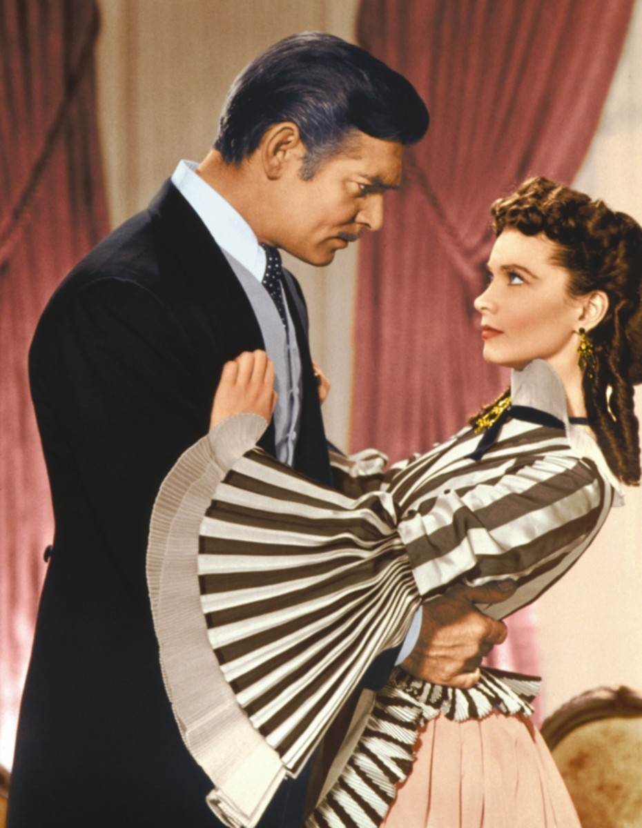Clark Gable and Vivien Leigh in Gone With the Wind, 1939. (Getty)