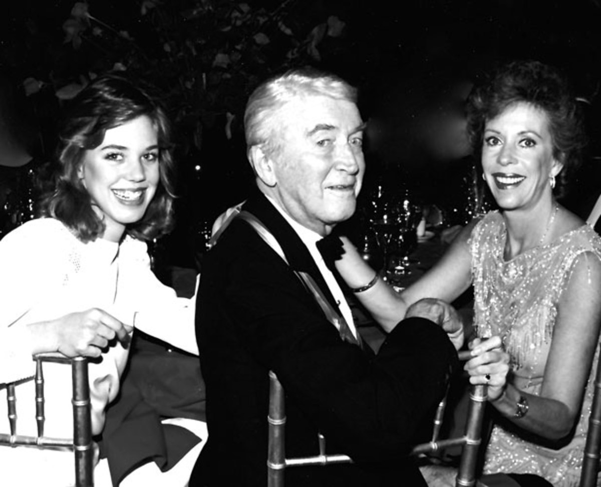 Carrie, Jimmy Stewart, and Burnett at the Kennedy Center Honors on Carrie's 20th birthday in 1983. (Jack Buxbaum/J.F. Kennedy Center)