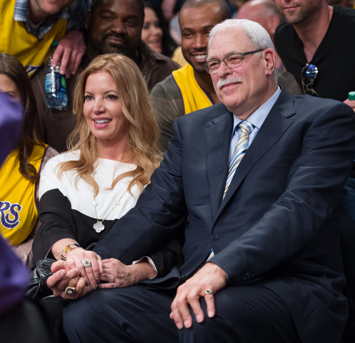 Phil Jackson Jeanie Buss Photo