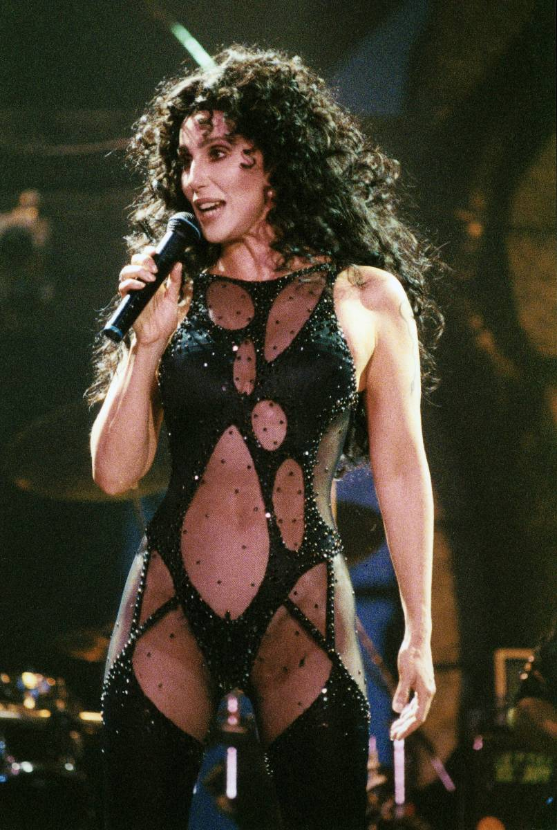 Cher performs during her 'Love Hurts' tour, 1992. (Photo: Getty Images)