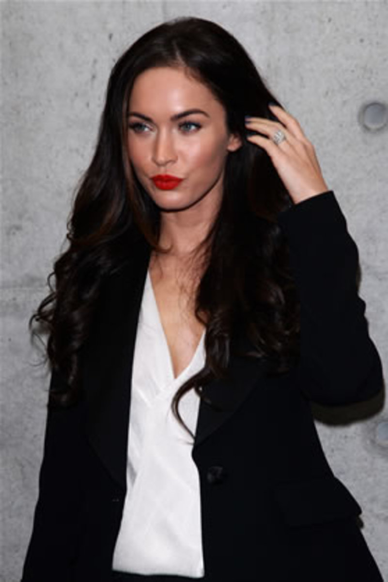 Hotheads: This seductive actress has some dark and dangerous thoughts. While Megan Fox hasn't done anything wicked just yet, she did make it known in a 2009 interview with Rolling Stone magazine that she threatened her then unstable fiancé, Brian Austin Green, on several occasions stating, 'I wouldn't shoot to kill. But I would shoot him in the leg, for sure.' (Photo: Getty Images)
