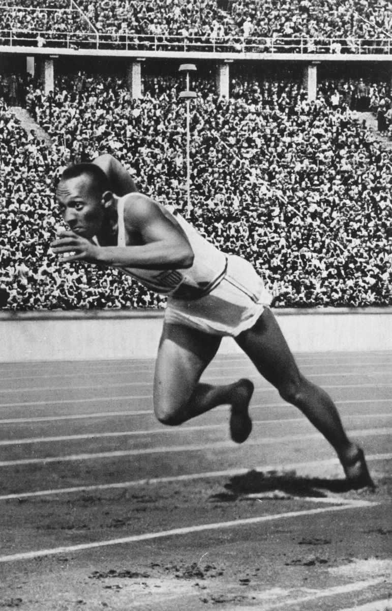 Jesse Owens triumphed at the 1936 Olympics with four gold medals. (Photo: Universal History Archive/UIG via Getty Images)