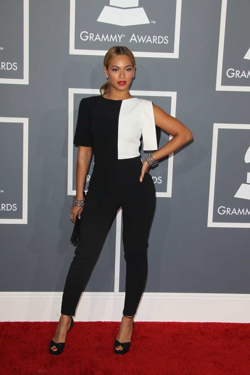 Beyoncé at the 55th Annual Grammy Awards in February 2013.
