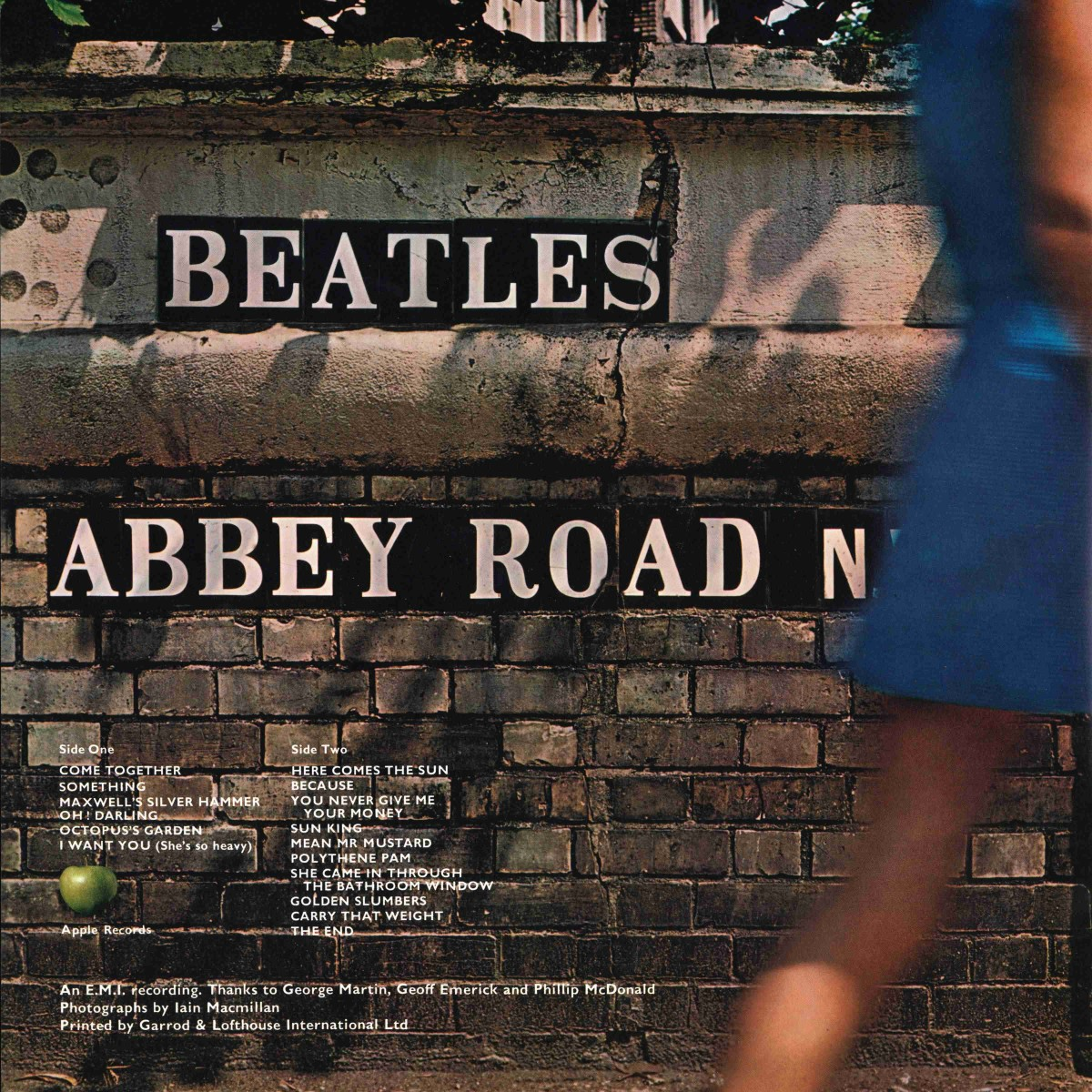 Abbey Road Album Back Cover Photo