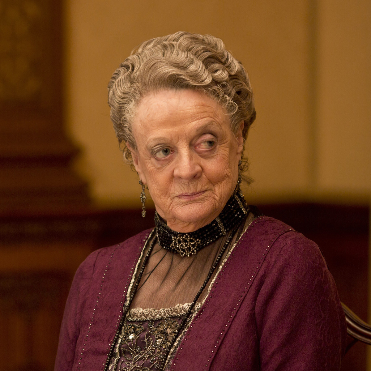 Downtown Abbey Maggie Smith Season 5 Photo
