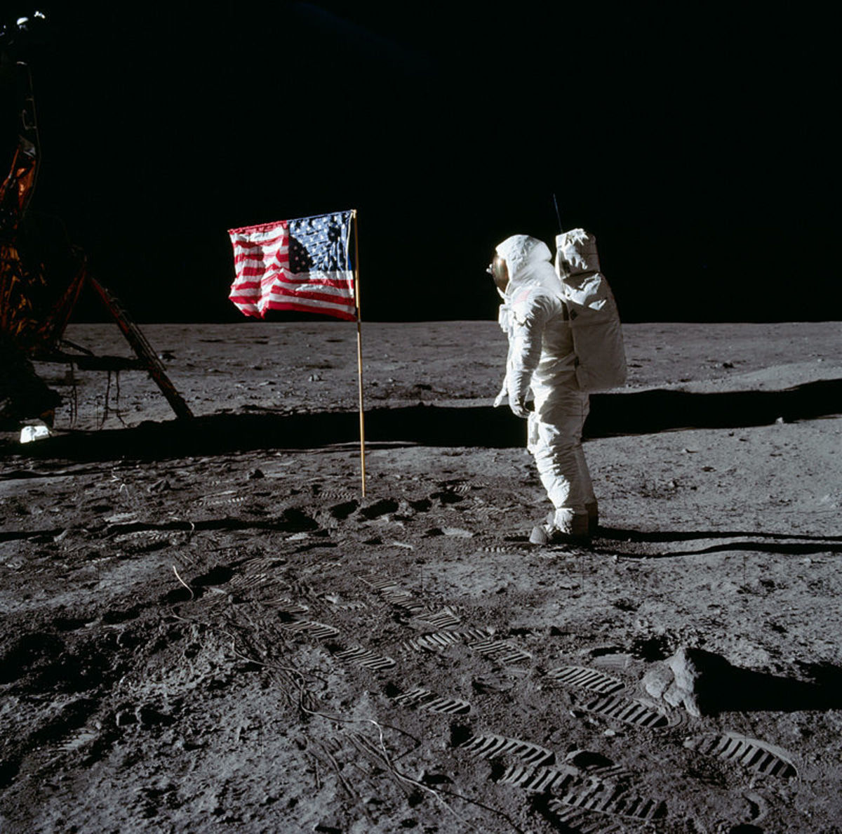 Apollo 11 Moon Landing Photo
