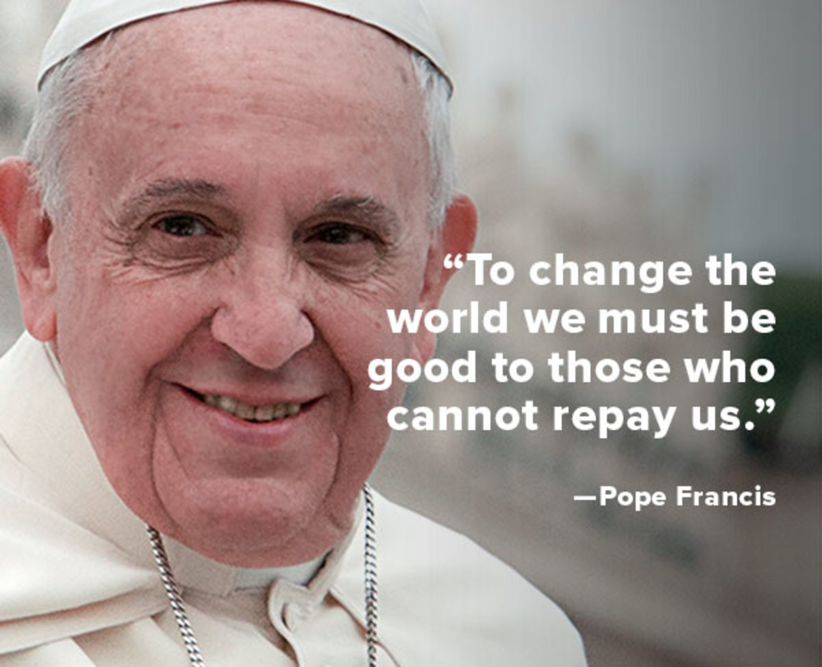 Pope Francis Quotes Quote Of The Week Pope Francis  Biography