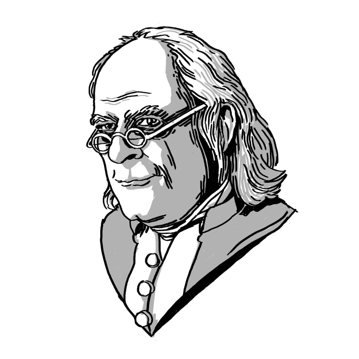 Benjamin Franklin Illustration