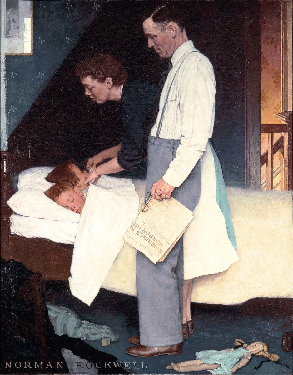 Freedom from Fear Norman Rockwell Photo