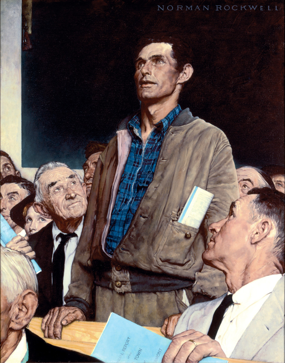 Freedom of Speech Norman Rockwell Photo