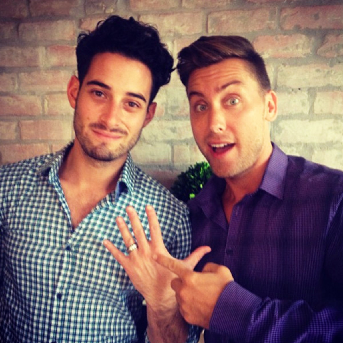 Lance Bass Engagement Instagram Photo
