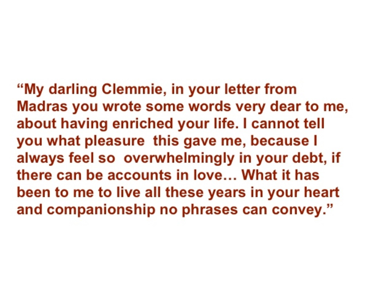 Winston Churchill love letter excerpt