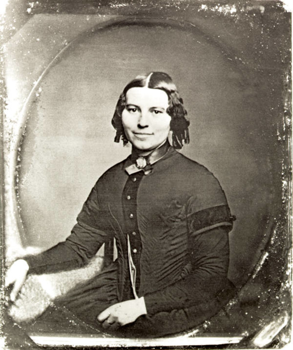 The earliest known photograph of Clara Barton, which was probably taken in Clinton, New York in 1850 or 1851 while she was a student at the Clinton Liberal Institute. She was about 29 years old. (Photo: National Park Service)