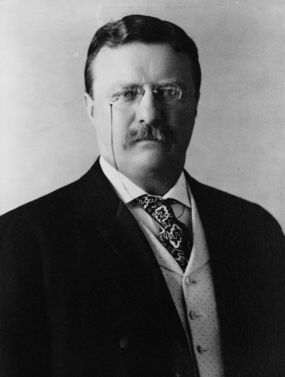 "Boxing fan President Theodore Roosevelt considered his friend John L. Sullivan ""as game and straight and honest a fighter as ever stepped in the ring."" (Photo: Pach Brothers [Public domain], via Wikimedia Commons)"