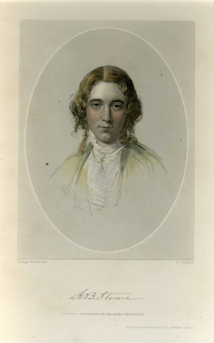 A souvenir print of Harriet Beecher Stowe, 1861. (Photo: Harriet Beecher Stowe Center, Hartford, Connecticut)