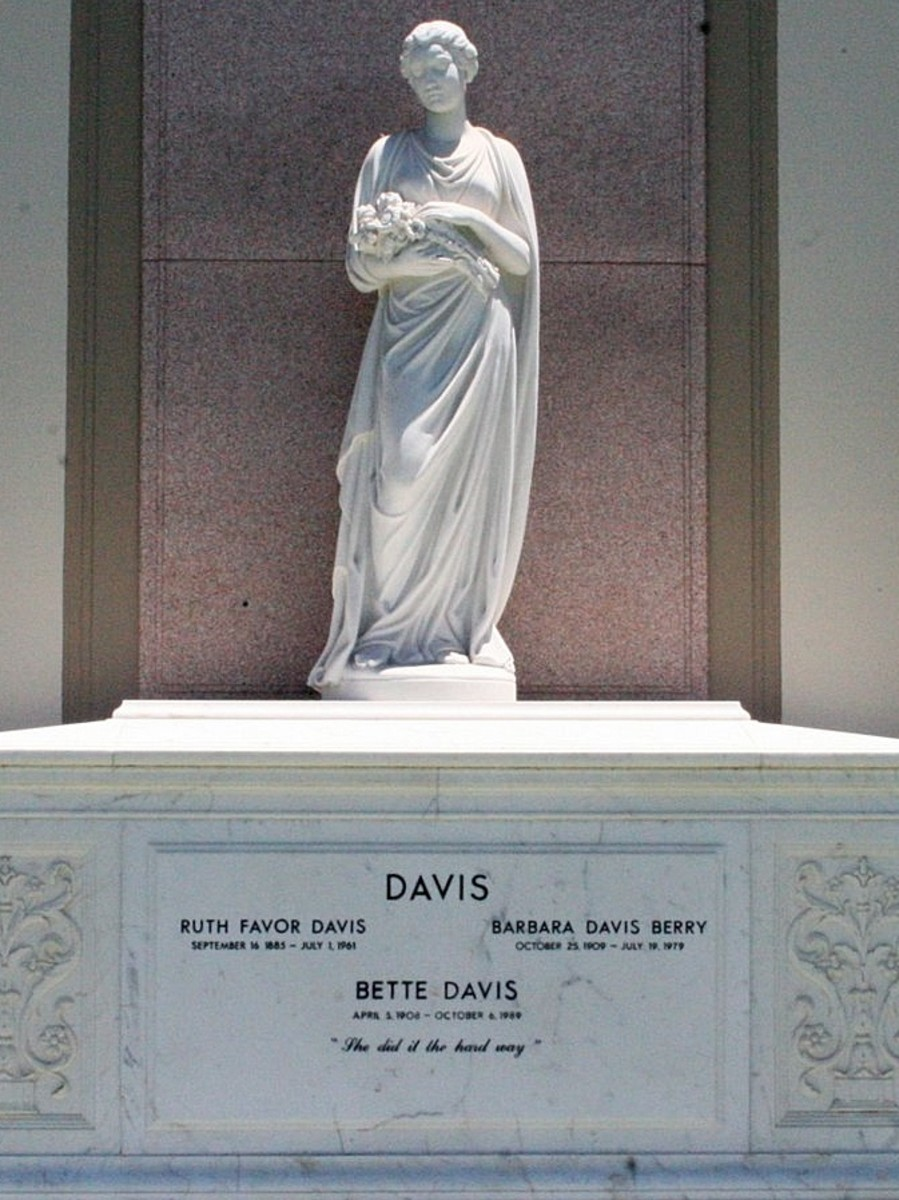 Bette Davis tombstone
