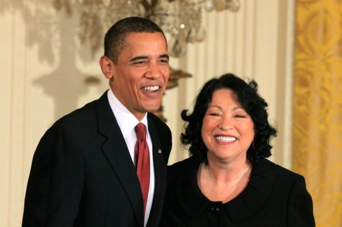 President Obama hosts a reception for Supreme Court Associate Justice Sotomayor at the White House in August 2009.