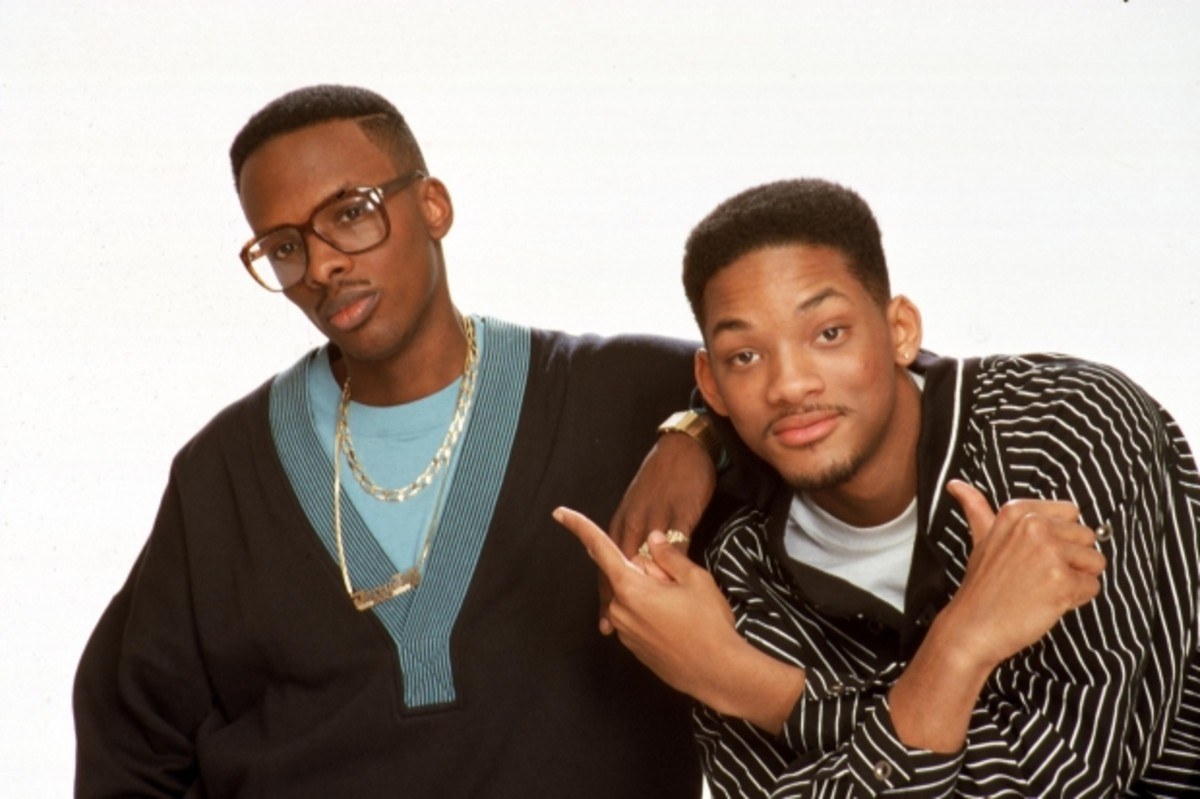 Jazzy Jeff and Will chillin.'