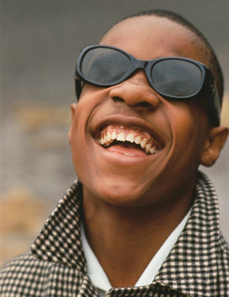 Young Stevie Wonder poses for a photo circa 1965. (Getty)