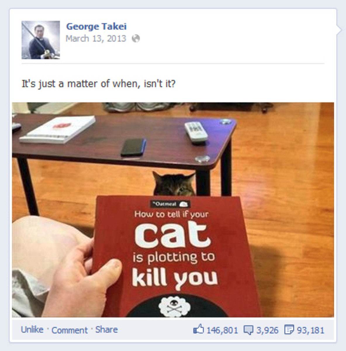 George Takei Facebook Post
