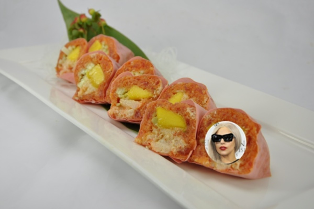 Lady Gaga Sushi Roll Photo