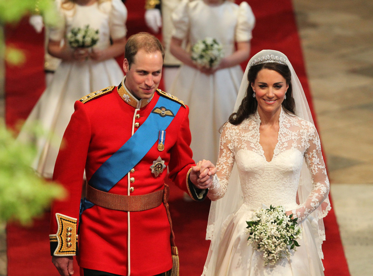 Prince Willam and Kate Middleton wedding day