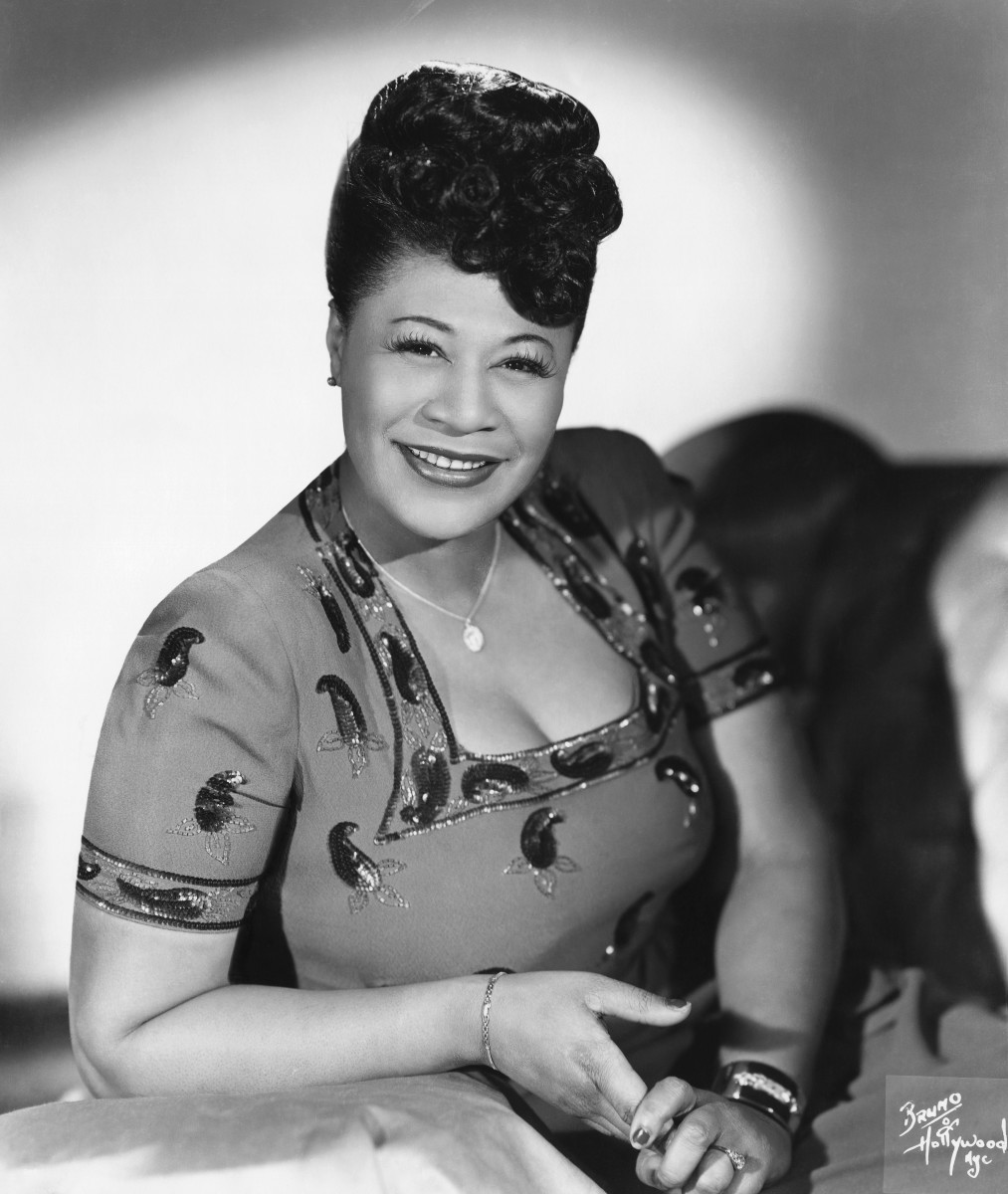 Harlem Renaissance Figures: Yet another young songstress got her start in Harlem, this time at the Apollo Theater, and won first prize. Ella Fitzgerald later became known as the 'First Lady of Jazz.'  (Photo by Michael Ochs Archives/Getty Images)
