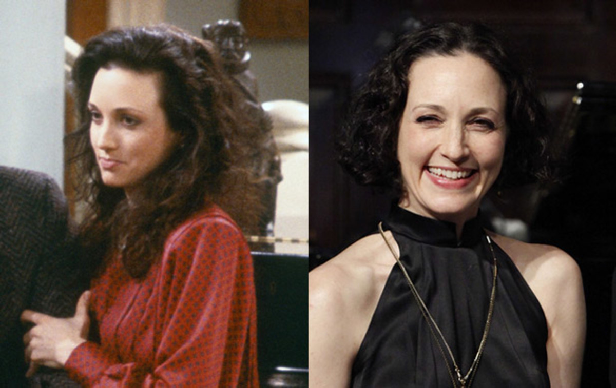 Where Are They Now: Cast of Cheers: In 1986, Bebe Neuwirth joined the cast of Cheers as Dr. Lilith Sternin-Crane, Frasier Crane's no-nonsense wife. A successful musical theater star, Neuwirth returned to Broadway in 2010, playing Morticia Adams opposite Nathan Lane in The Addams Family. (Left) Photo by: NBCU Photo Bank. (Right) Photo by John Lamparski/WireImage.