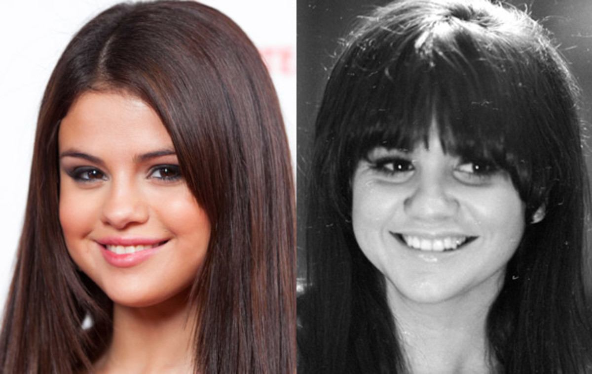 Selena Gomez and Linda Ronstadt in their 20s. (Getty)