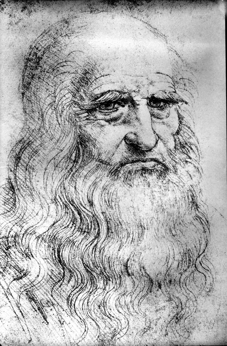 A sketch of Leonardo da Vinci.
