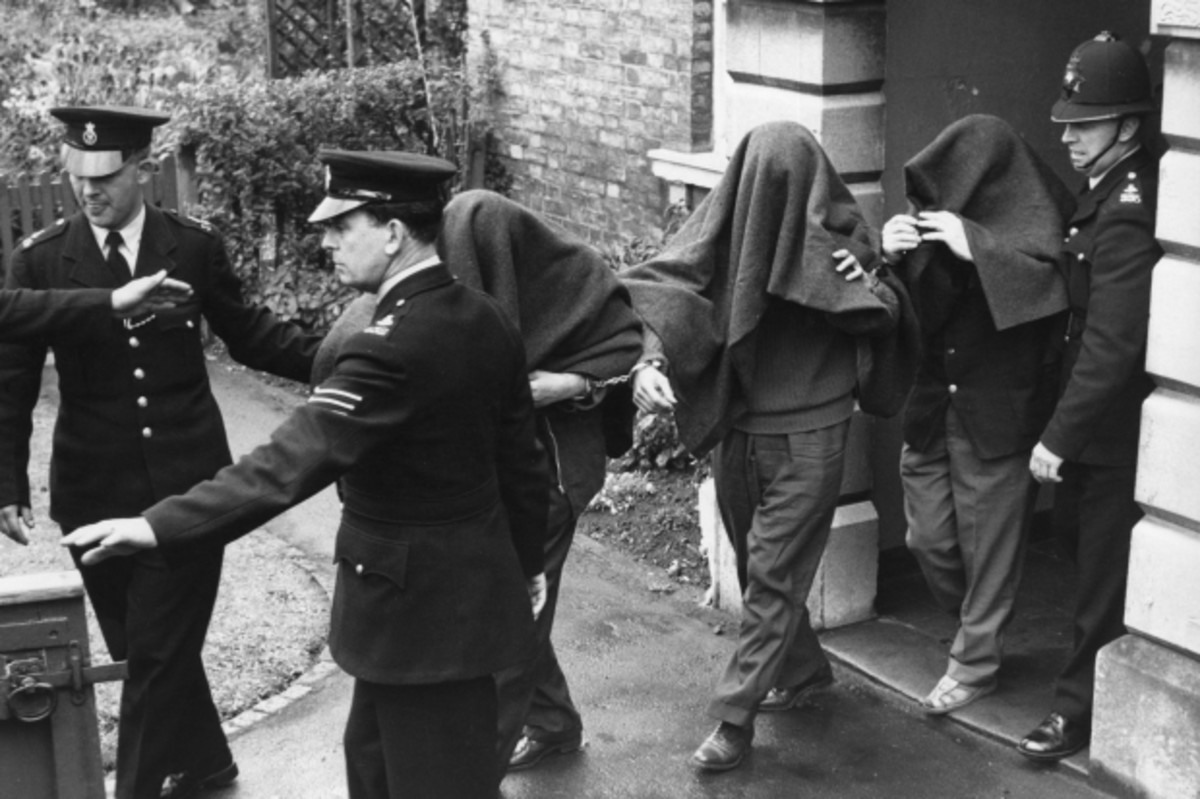 Three of the suspects connected to the Great Train Robbery. August 16, 1963. (Getty)